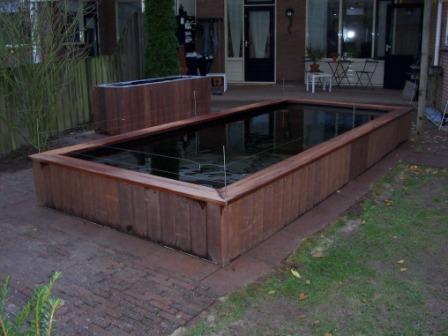 Forums vijver aanleg ontwerp show je tuin nieuwe for Vijver afwerking hout