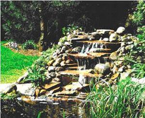 Content vijver bouw een waterval aanleggen koieagle for Zelf vijver bouwen