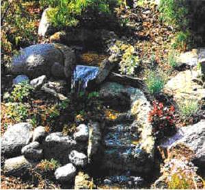 Waterval maken in vijver